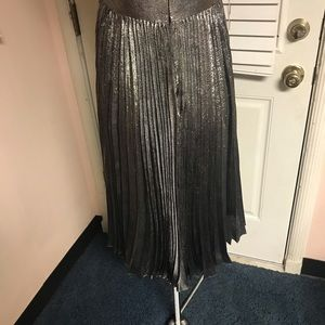 Dkny Dresses - DKNY silk blend metallic pleated dress